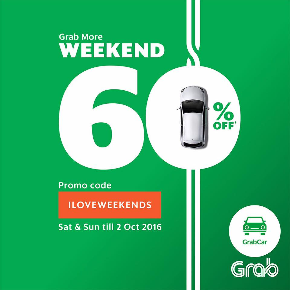 Weekend Discount: GrabCar Malaysia 60% Discount Promo Code Every Weekend