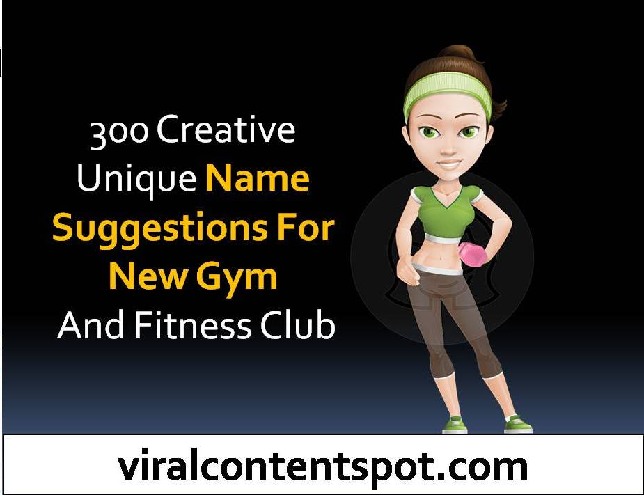 Name Suggestions For New Gym And Fitness Club