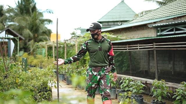 Dukung Hanpangan Wilayah, Prabinsa Kodim Tenggarong Kembangkan Pupuk Organik