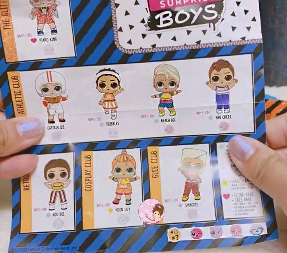 Checklist for L.O.L. Surprise Boy Series 2