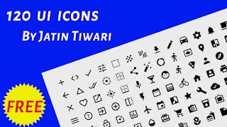 Free Download120 UI Icons By Jatin Tiwari