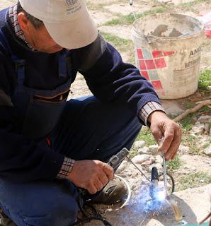 Bekir welds once again
