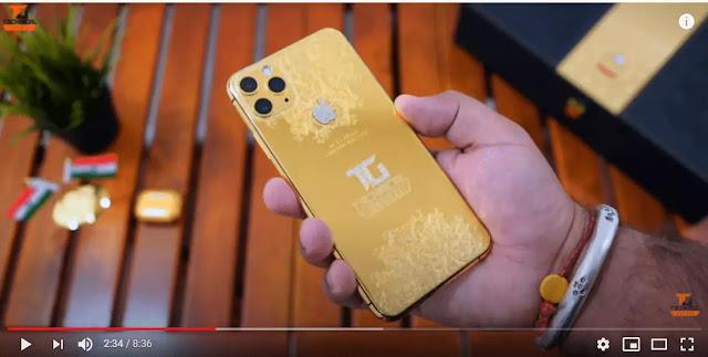 Technical Guruji Golden iPhone 11 Pro Max & Gift For You