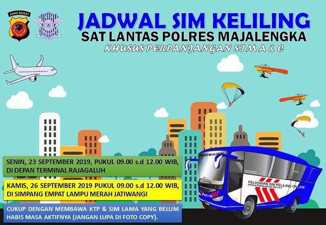 SIM Keliling Majalengka September 2019 - IGsatlantasmjlk