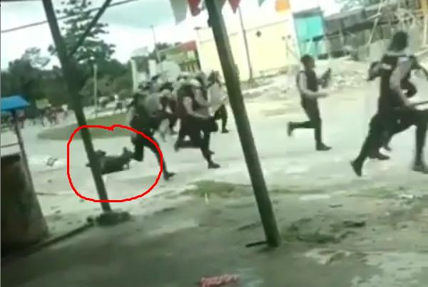 Polisi Lari Tunggang Langgang