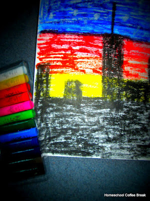 Paint and Pen Fun on the Virtual Refrigerator, an art link-up hosted by Homeschool Coffee Break @ kympossibleblog.blogspot.com
