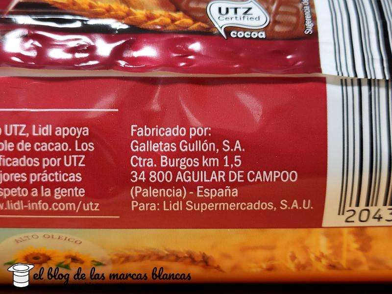 Galletas Gullón SA fabrican las Galletas digestive con chocolate SONDEY (Lidl) - El Blog de las Marcas Blancas