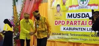 Bupati lingga buka Secara Resmi Pelaksanaan Musda IV Golkar Kabupaten Lingga.