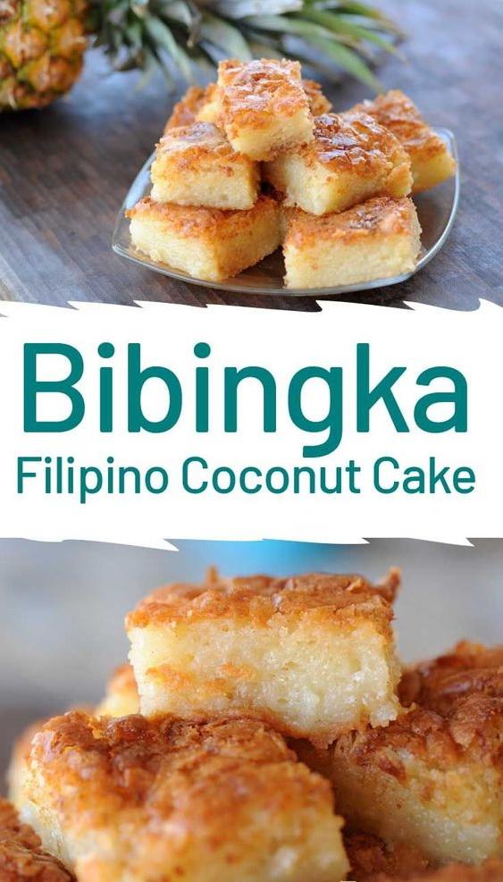 Bibingka Filipino Coconut Cake