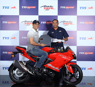 TVS Motor Company launches TVS Apache RR 310 with Race Tuned (RT) Slipper Clutch' technology