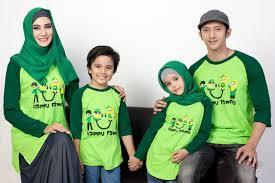 Baju Kaos Muslim Pasangan Keluarga Modern