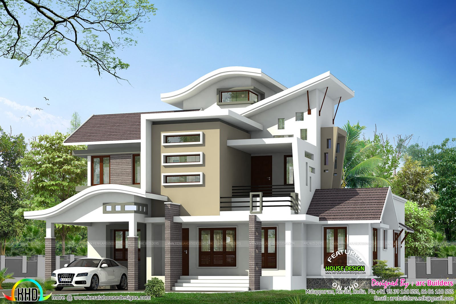Exceptional Contemporary Home Designs At Malappuram Part - 9: 2450 Sq.feet Home Design From Kasaragod, Kerala - Kerala Home Design ... |  Bungalow House | Pinterest | Kerala, House And Exterior Colors
