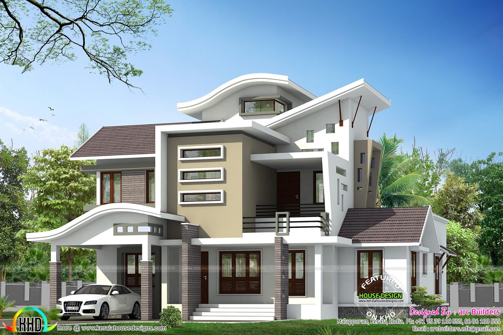 Best Kitchen Gallery: 2450 Sq Feet Home Design From Kasaragod Kerala Kerala Home Design of Modern Home Design Photos  on rachelxblog.com