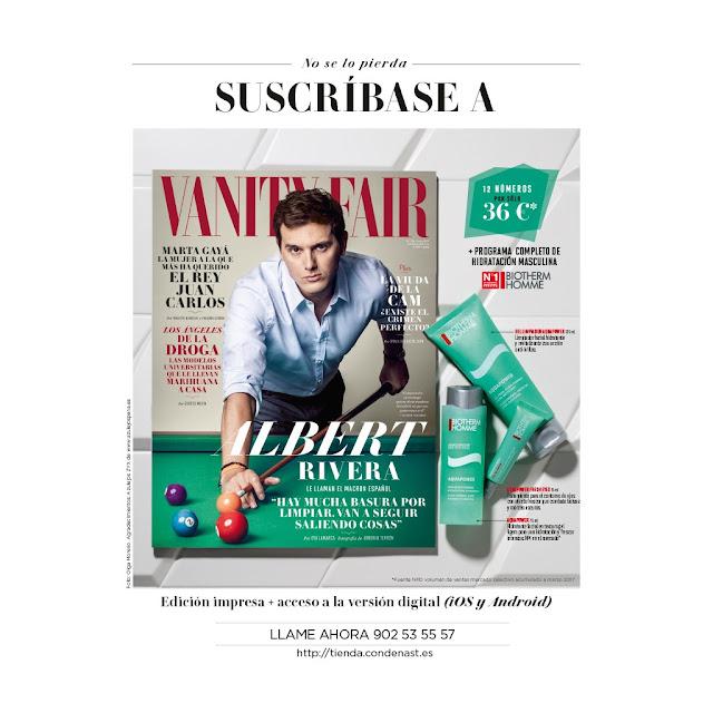 Regalos revistas Junio 2017 suscripcion vanity fair