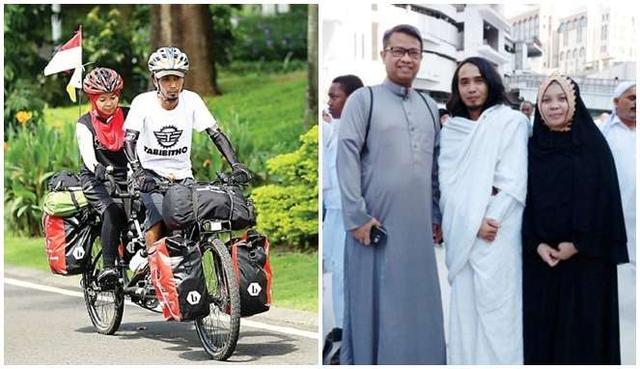 Kisah Haru di Balik Perjalanan Suami Istri Asal Malang yang Umroh Dengan Sepeda Pancal