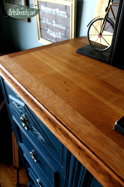 BEAUTIFUL OAK ORIGINAL WOOD UNDER THE OLD VENEER REFINISHED DIY BLOGGER ARTISBEAUTY.NET