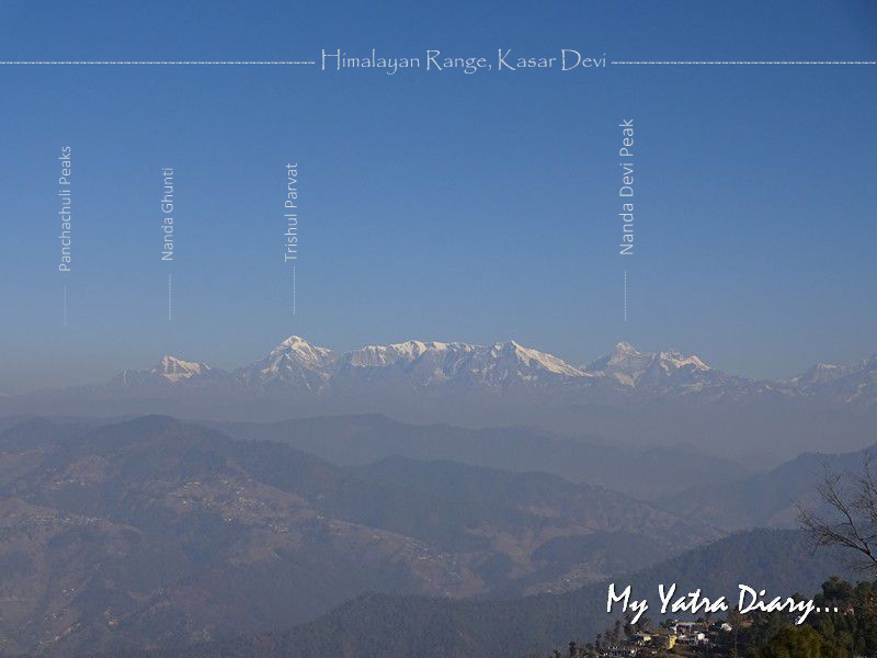 Stunning view of the entire Himalayan range Alhito Cafe Kasar Devi Uttarakhand