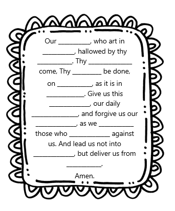 Adventures in Teaching First Grade Catechism: Prayer