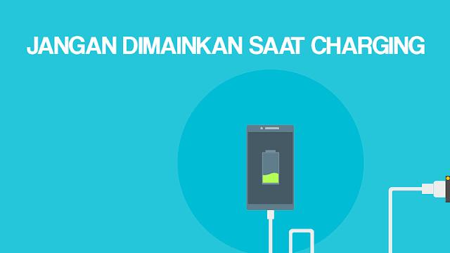 Jangan Bermain Pada Saat Sedang Charging - Cara Agar Mobile Legend Tidak Lag Saat Dimainkan