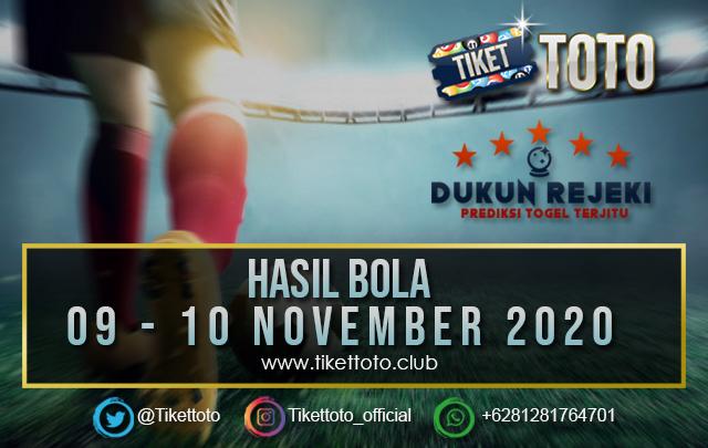 HASIL PERTANDINGAN BOLA 09 – 10 NOVEMBER 2020