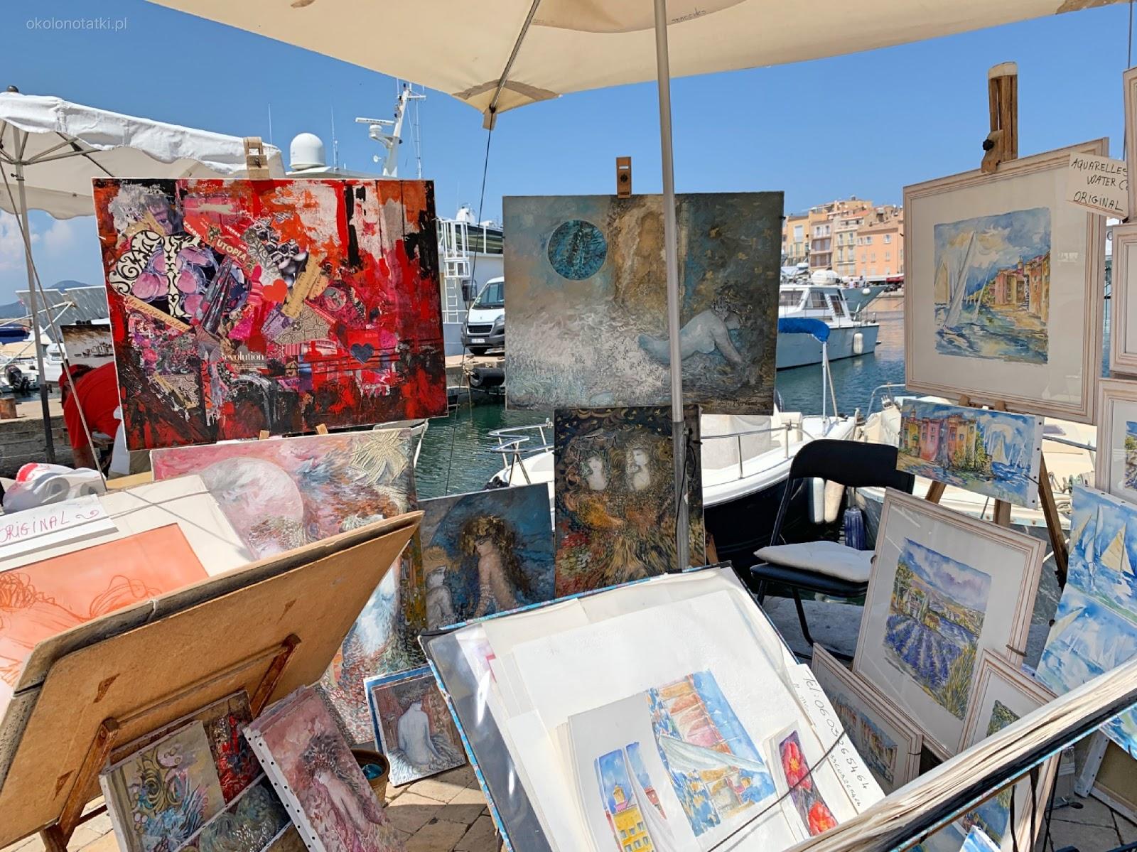 wakacje w Saint-Tropez, lokalne malarstwo