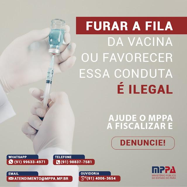 Casos de desvios de vacinas da covid-19 devem ser denunciados ao Ministério Público