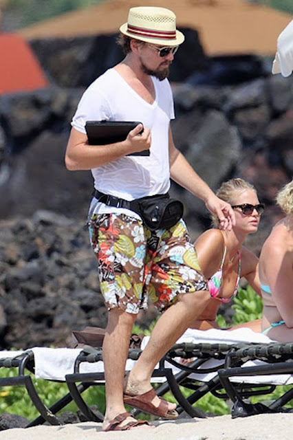 Leonardo DiCaprio wearing a fanny pack