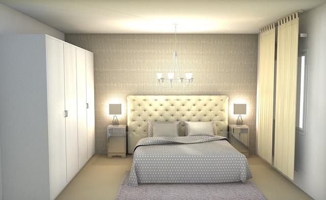 Render dormitorio Glam chic CocoChic&Deco