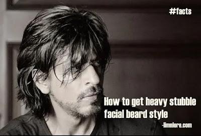 shahrukh khan with heavy stubble facial hair