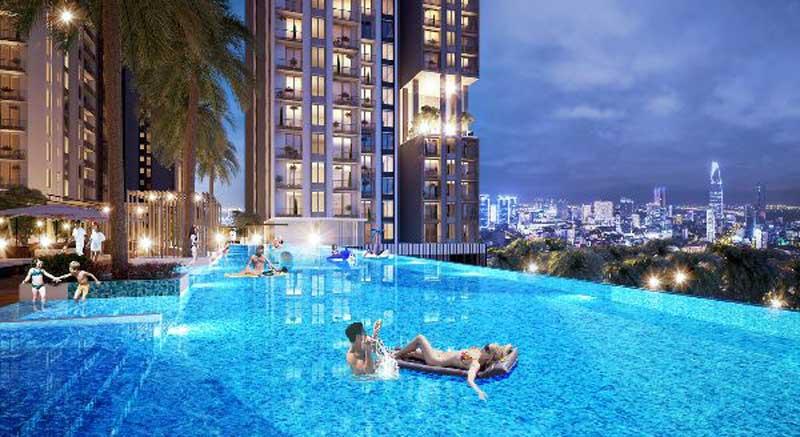 Hồ bơi dự án Kingdom Hoa Lâm Quận 10