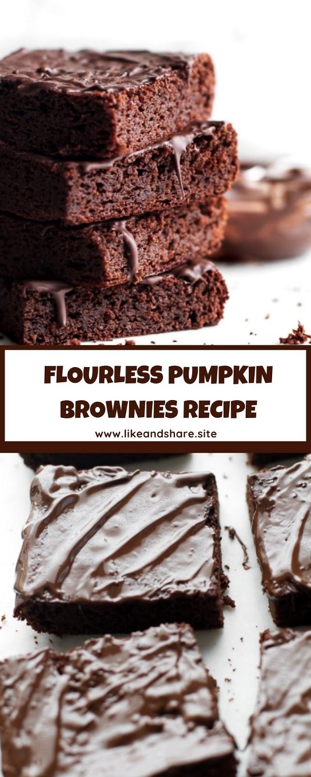 FLOURLESS PUMPKIN BROWNIES RECIPE