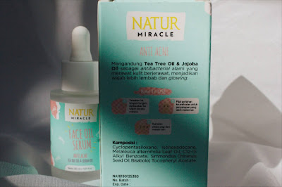 ingredients face oil serum anti acne natur