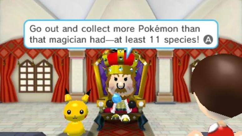 Pokemon Rumble World - Dialogo com o Rei Diance