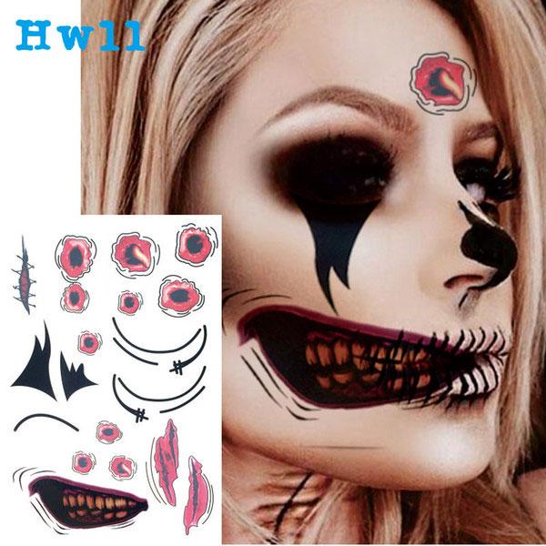 Tatuajes temporales de Halloween
