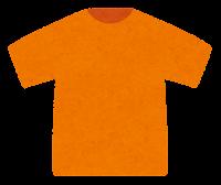 Tシャツのイラスト(オレンジ)