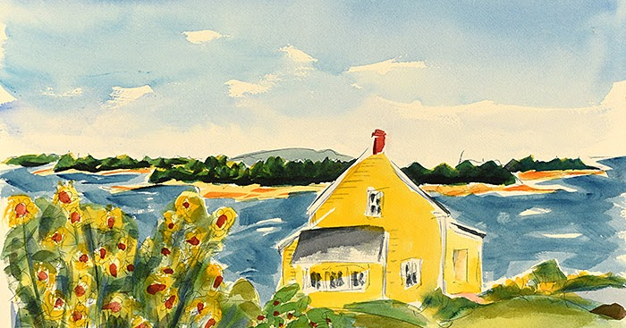 The Art Of Bruce That Yellow House Flowering