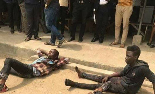 4 armed robbers stoned to death burnt alive calabar