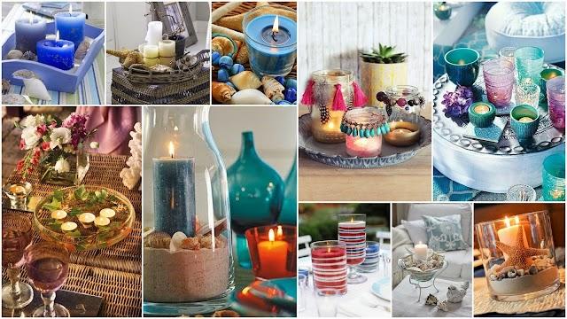 Kαλοκαιρινές Συνθέσεις - Διακοσμήσεις με Κεριά