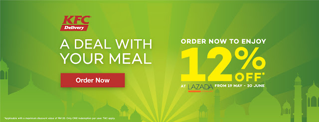 KFC x Lazada voucher code promo discount offer
