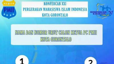 Ini Dua Calon Ketua Cabang PMII Kota Gorontalo Pada Konfercab XXI