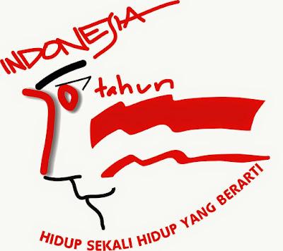 Gambar Bendera Merah Putih Logo 70 Tahun Indonesia Merdeka