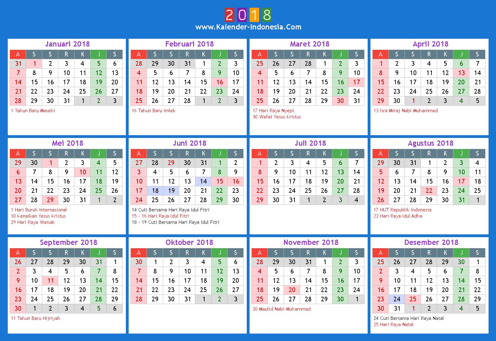Kalender Indonesia Online: 2018