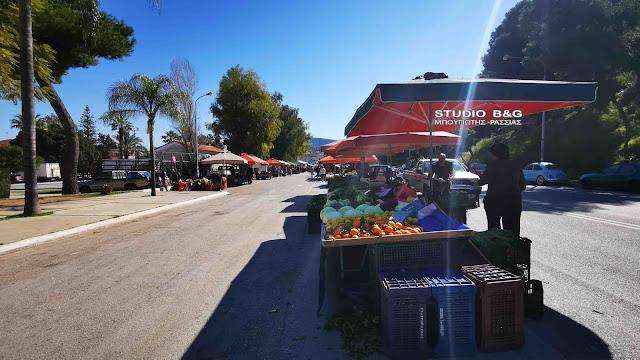 Έπιασαν τόπο τα νέα μέτρα στην λαϊκή αγορά του Ναυπλίου (βίντεο)