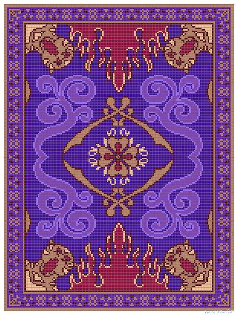 Ravenpuff & Magic Stuff: Aladdin's Flying Carpet- Free graph!