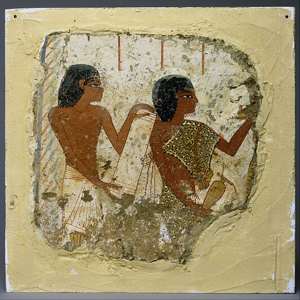 Tomb painting depicting two priests