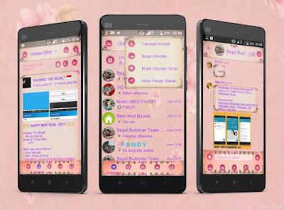 BBM Mod Droid Chat Rose Theme V3.2.0.6 Apk
