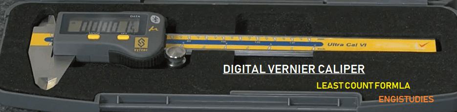 Digital vernier caliper least count formula