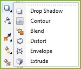 Interactive Tool Flyout CorelDRAW X7