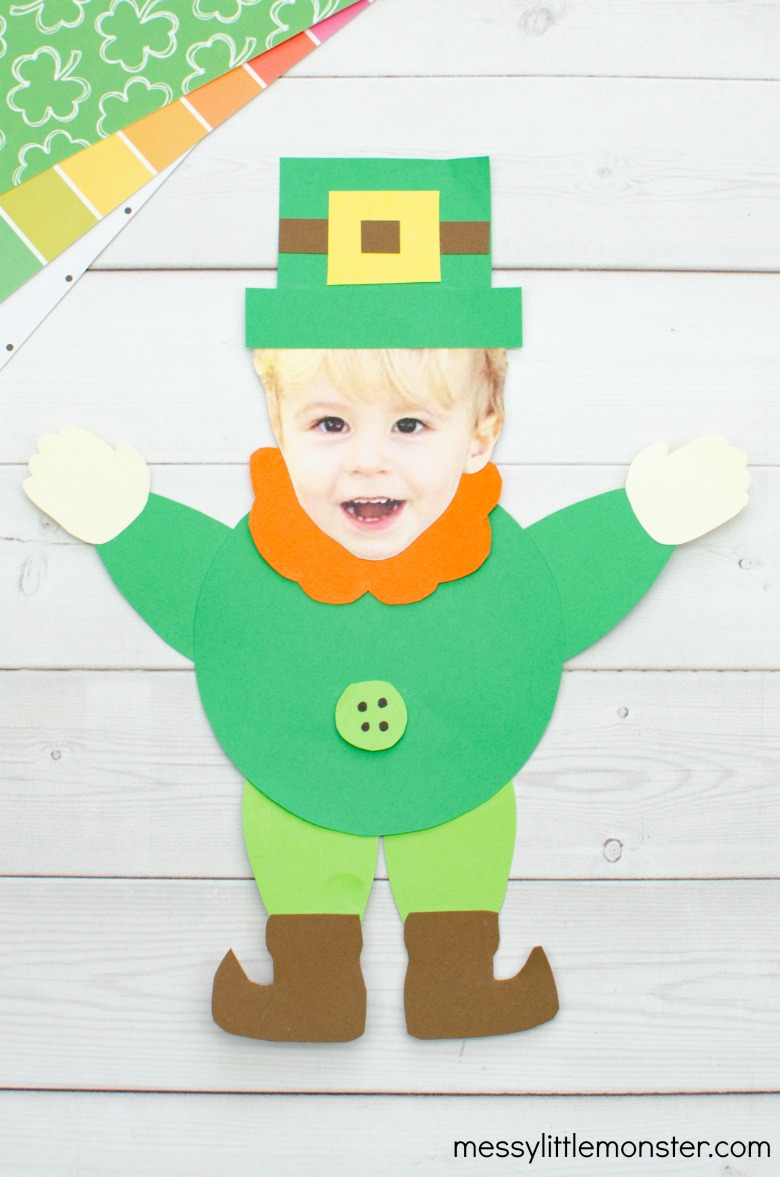 photo leprechaun St Patricks Day  craft for kids