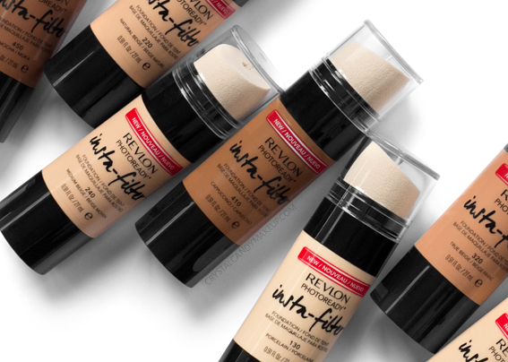 Revlon Photoready Insta-Filter Foundation All Shades Review Photos Swatches Before After Oily Skin MAC Equivalents